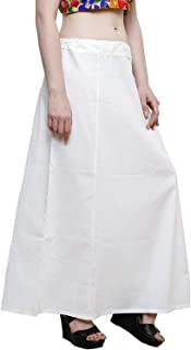 Ridhi and Sidhi Cotton Indian Readymade Petticoats for Women's Off-White