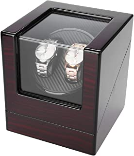 Automatic Watch Winder,Rotate Watch Winder in PU Leather Watch Display Box with Quiet Motor Fit Lady and Man Automatic Watch (4 Type)(2#)