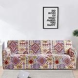 ASCV Fundas con Estampado Floral Fundas de sofá a Cuadros elásticos para Sala de Estar Funda elástica para Silla de sofá Toalla de sofá Decoración para el hogar A1 4 plazas