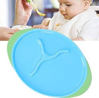 طبق أطفال مانع للانزلاق، أطباق متينة لتدريب الأطفال على تغذية الأطفال ولوحات تدريب ذاتي للأطفال، طبق طعام محمول متوازن لتن...