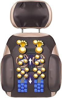 Shiatsu Cojín de Masaje Asiento Masajeador cervical, masajeador trasero, vibración, amasamiento multidireccional, para el hogar de la oficina