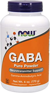 Now Supplements, GABA (Gamma-Aminobutyric Acid) Powder, 6-Ounce