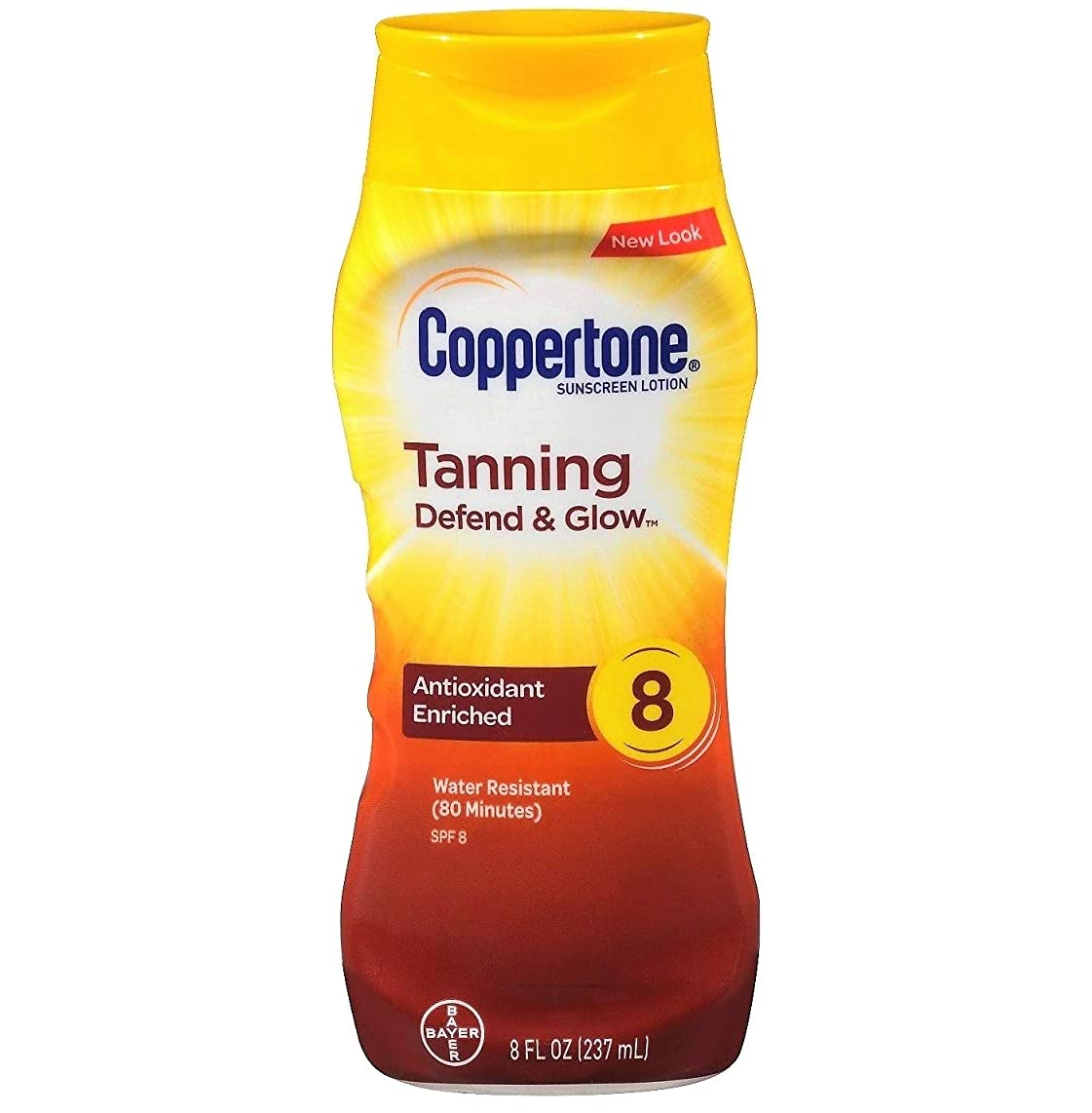Coppertone Tanning Lotion SPF 8 Sunscreen-8 oz, 2 pack