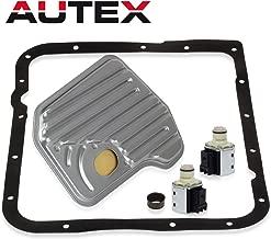AUTEX 2PCS 4L60E 4L60-E Transmission Shift Solenoid Valve With Filter Gasket Kit Set A&B Compatible With Chevrolet GM Trucks 1993 1994 1995 1996 1997 10478102 10478108