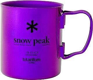 Snow Peak Titanium Double Wall 450 Mug Cookware 000 Purple