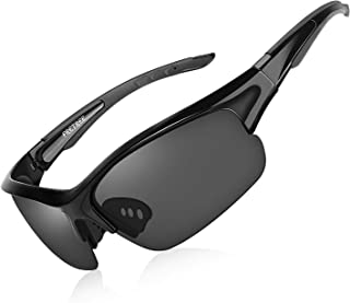 Polarized Sunglasses for Men Women - UV Protection TR90 Unbreakable Sports Sunglasses for Fishing...