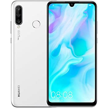 "Huawei P30 Lite (128GB, 4GB RAM) 6.15"" Display, AI Triple Camera, 32MP Selfie, Dual SIM GSM Factory Unlocked MAR-LX3A - Global 4G LTE International Version (Pearl White)"