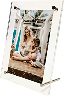 Exquisite Acrylic Photo Frame with Gift Box Package. Free Standing/Tabletop Display - Modern, Stylish & Transparent. Organ...