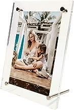إطار صور أكريليك رائع مع عبوة صندوق هدايا. شاشة قائمة حرة / سطح الطاولة - حديثة وأنيقة وشفافة. قم بتنظيم وحماية صورك - 5R...
