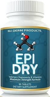 Nuderm Epi Dry HYPERHIDROSIS Treatment Pills Stop Sweating, Sweaty Hands Sweaty Feet Night Sweats Stress Sweat Sweaty Underarms Naturally Proven Antiperspirant Vitamins Treats Hyperhidrosis