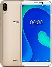 """WIKO Y80 + Carcasa – Smartphone 4G de 5,99"""" (Octa-Core 1,6 GHz, Cámara Dual 13 MP, batería 4000 mAh, 32 GB de ROM, 2 GB de RAM, Android 9, Dual SIM) – Color Dorado"""