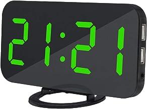 Eastdall Despertador Digital,Despertador digital LED com duas portas de carregador USB Modo Auto Dimmer Função Snooze Fáci...