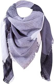 Elogoog Cozy Plaid Neck Scarf Womens Winter Soft Colorful Plaid Blanket Scarves Checked Tartan Wrap Shawl