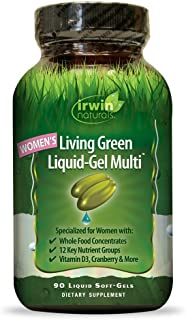 Women's Living Green Multi Vitamin by Irwin Naturals, Key Nutrients and Whole Food Concentrates, 90 Liquid Softgels