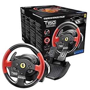 immagine di Thrustmaster T150 Ferrari Edizione (Volante incl. 2-Pedali, Force Feedback, 270° - 1080°, PS4 / PS3 / PC)
