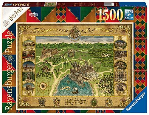 Ravensburger Puzzle 16599 - Hogwarts Karte - 1500 Teile Puzzle für Erwachsene und Kinder ab 14 Jahren, Harry Potter Fan-Artikel