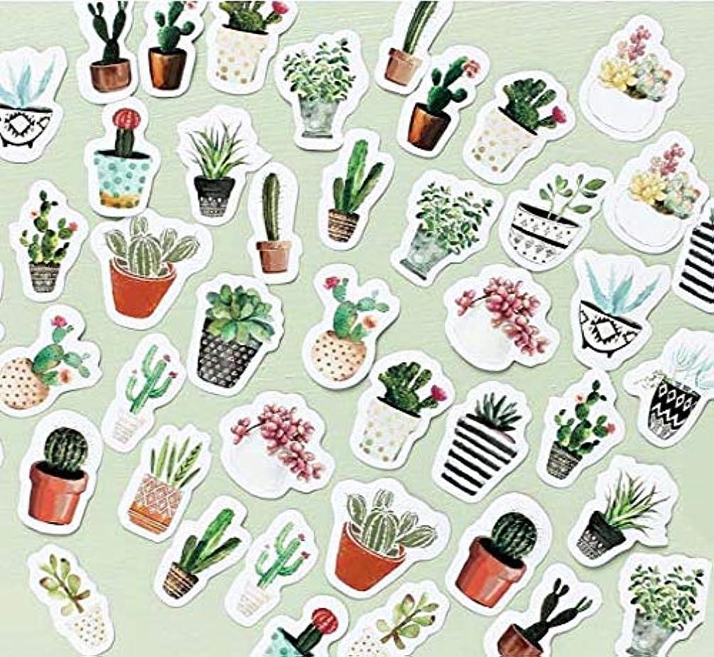 Sanmatic Sticker 45 Pcs Green Cactus Plant Decorative Stickers Scrapbooking Stick Label Diary Stationery Album Journal Stickers (Green Plant) …
