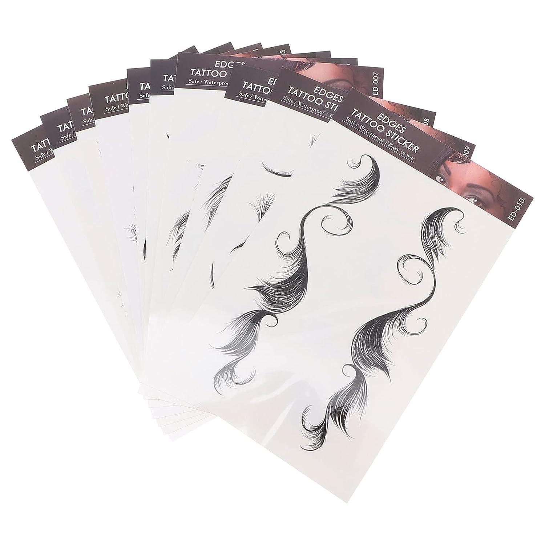 Beaupretty 10 Sheets Hair New Shipping Free Shipping Edges Hai Baby Ranking TOP14 Temporary Tattoo