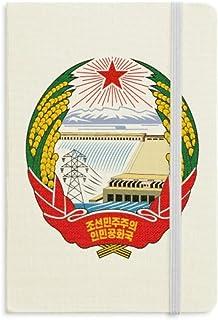 North Korea National Emblema Cuadernos clásicos de tela rígida para oficina regalo de trabajo