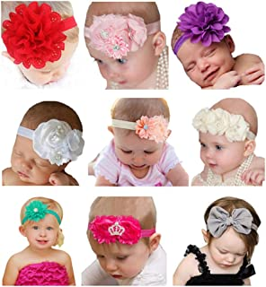 Baby Girl's Beautiful Headbands Newborn,Toddler and Kids Elastic Hairband for Photograph
