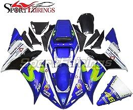 Sportfairings Fairing Kit For Yamaha YZF-1000 YZF R1 2002 2003 Year 02-03 Vale 46 Blue Bodywork Body Kit