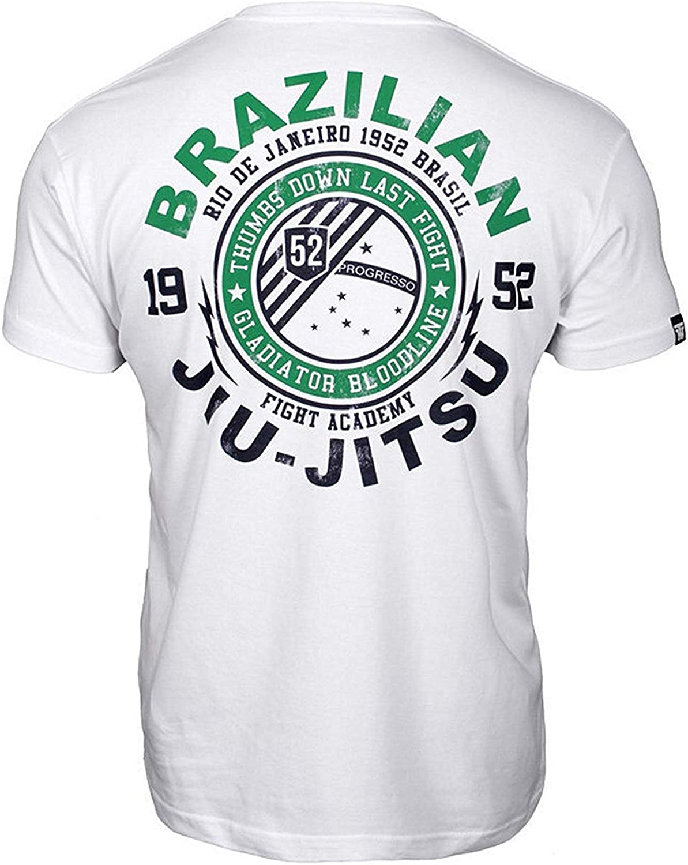 Thumbs Down Jiu-Jitsu Brasile/ño Camiseta Rio Des Janeiro Marcial Artes Informal Gimnasio Entrenamiento /Últimas Fight MMA