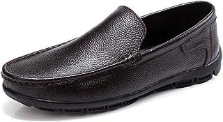 [Agogoo] プレーンタイプ 靴 メンズ ビジネスシューズ ローファー ドライビング カジュアルシューズ 革靴 オールシーズン 軽量 屈曲性 防滑