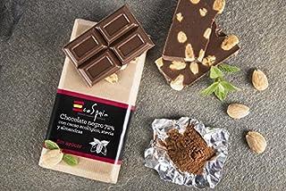 Chocolate negro 72% con cacao ecológico, almendras y stevia