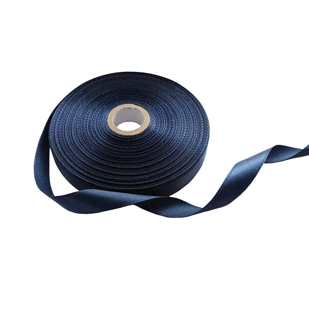 1/2 Inch Single Face Solid Polyester Satin Ribbon 50 Yards for Gift Package Wrapping,Floral Design,Hair Bow Clip Making,Crafting,Sewing,Wedding Decor,Boy Girl Baby Shower, Navy Blue