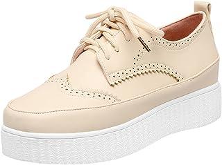 Latasa Womens Platform Lace up Oxford Shoes
