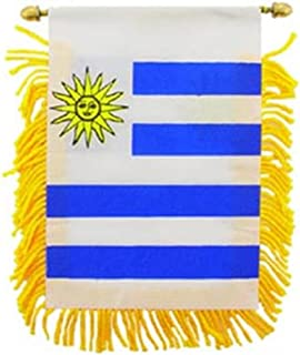 EagleEmblems WF1114 Mini-Ban, Int,Uruguay (3x5'')