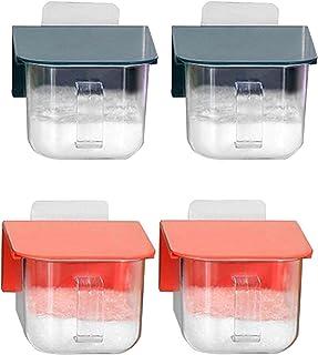 Pkfinrd 4PCS Conteneur Coffret Coffret Set Spice Tinter Condiment Jar Stockage Conteneur Spice Jar Cuisine Cruet avec Couv...