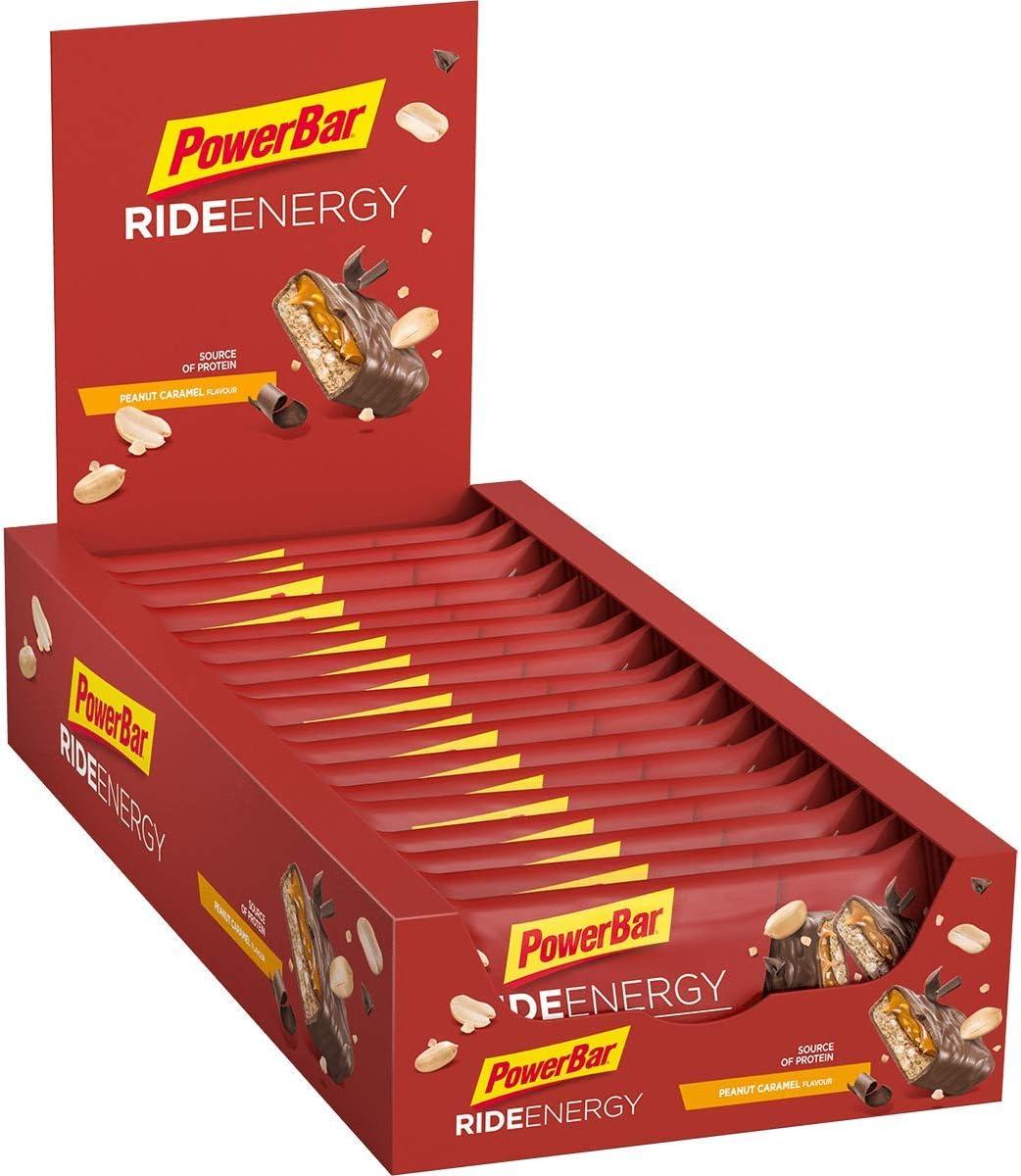 PowerBar Ride Energy Peanut Caramel 18x55g - Barra de Proteínas de Carbohidratos + Magnesio