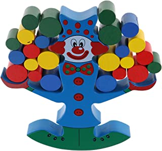 Fityle Clown Wooden Balancing Game Stacking Blocks Set Toys Building Balance Games for Children Toddlers