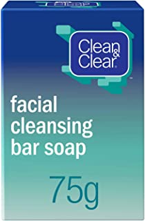 Clean & Clear Facial Cleansing bar Soap - White, 75 g