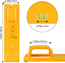 VSTM Picture Hanging Tool Kit, Frame Picture Hanger Wall Hanging Kit Multifunction Level Ruler for Marking Position and Hanger Level (Upgraded Yellow)