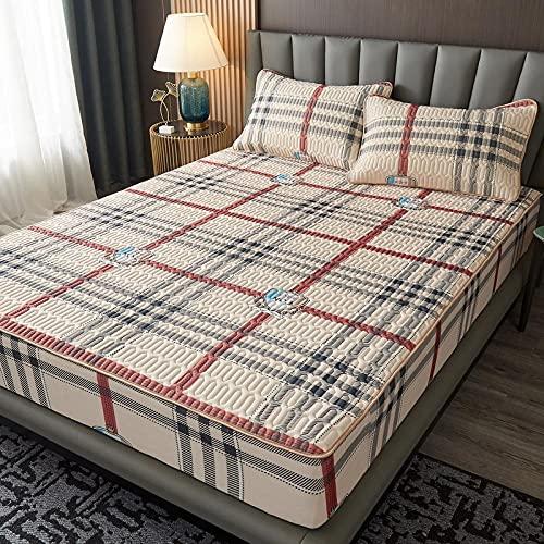 Ice silk latex sommarmatta tecknad tryck madrassskydd, bekväma och coola vikbara sommarlakan, lättskötta lakan för barn och vuxna enkelsängar och dubbelsängar-L_120 * 200cm (2pcs)