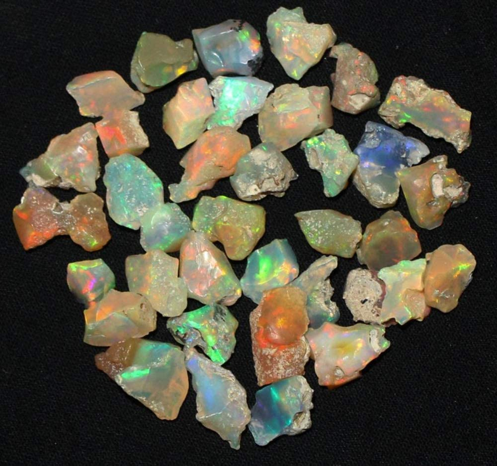 Fire Play Opal Rough stone Raw Natural Gemstone Boston Nippon regular agency Mall C Stone