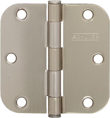 "high quality Sc3p1011f-620e Artisan 3-1/2"" new arrival 5/8 Rad Round lowest Corner Hinge Pewter 3/Crd(C1011b-620) online"