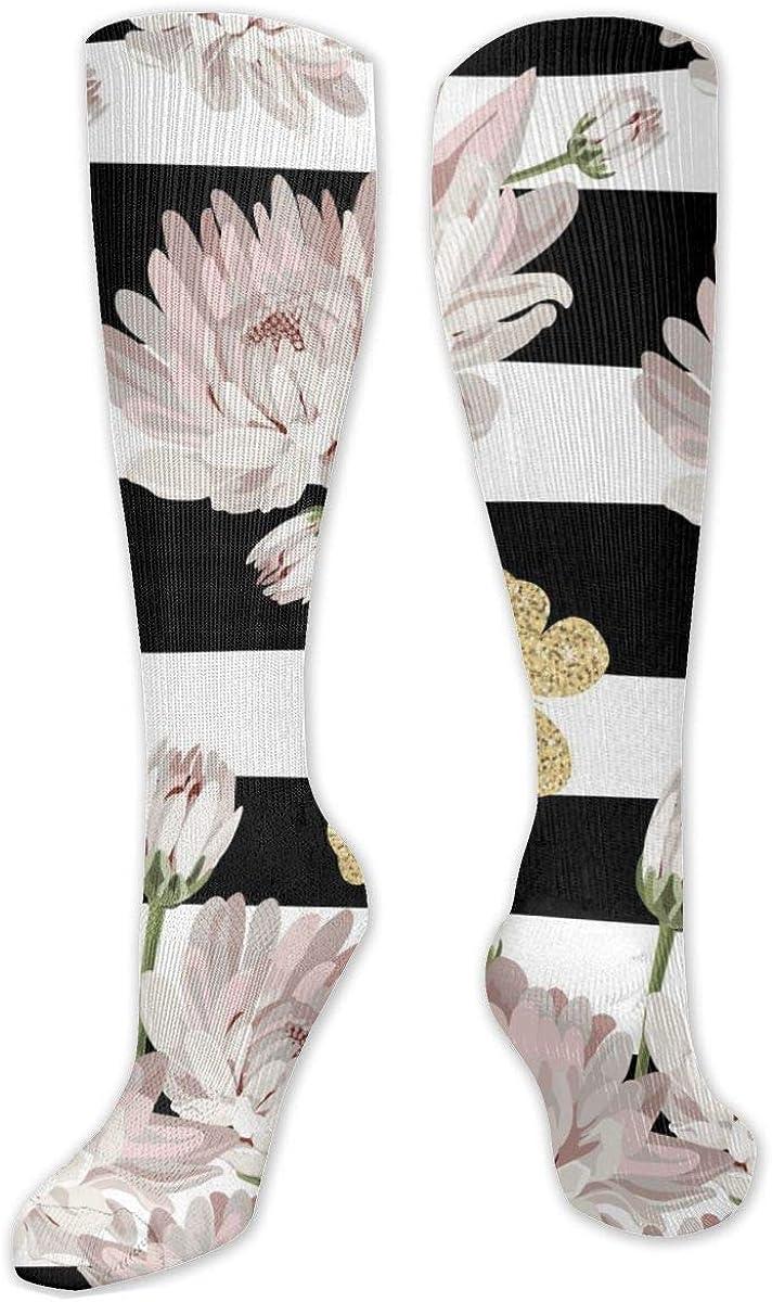 Glitter Butterfly Pattern Knee High Socks Leg Warmer Dresses Long Boot Stockings For Womens Cosplay Daily Wear