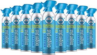 Oxygen Plus 99.5% Pure Recreational Oxygen Cans – O+ Biggi 9-Pack – Energy & Recovery – 11 Liter Cans, 50+ Uses – FDA-Regi...