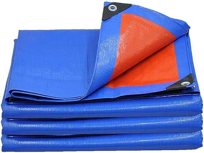 Baches Haute Résistance épaissir PE Tissu Imperméable à L'eau Bleu Orange Double Couleur Tente Tissu Heavy Duty Camion à Tarte Baisser Tissu Toile D'auvent
