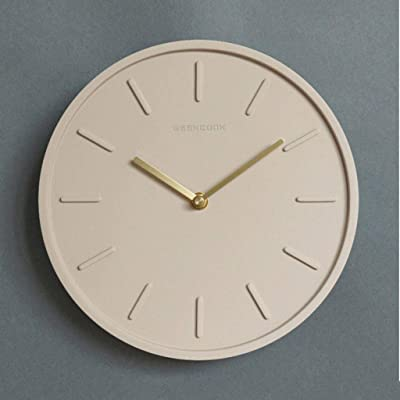 Xinshenghe Nordic Cement Wall Clock 10 Inch Quartz Clock Watch Living Room Industrial Wind Mute Wall