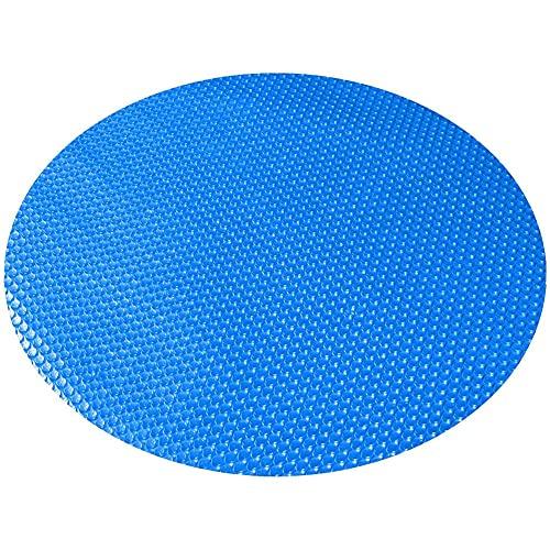 Nicejoy Pool Solar Cover met UV Bescherming Bubble Pool Cover Dust Protector voor Ronde Frame Zwembaden Blauw 177″