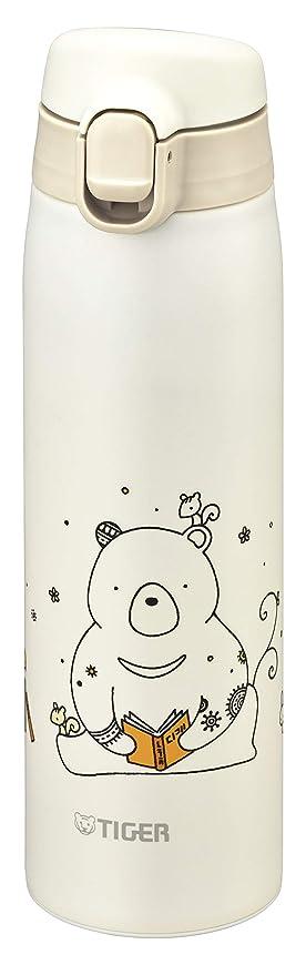 良心的バリアこどもセンタータイガー 水筒 500ml かめいち堂 マグ ステンレスボトル ワンタッチ 軽量 クマ MCT-A050W