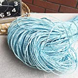 CHZIMade Raffia Hilo de ganchillo para sombreros hechos a mano cestas artesanales para tejer doble hebra de 2 mm de diámetro 2