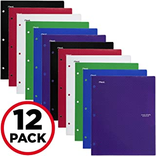 Five Star 2 Pocket Folder, Stay-Put Folder, Folders with Pockets, Prongs, Fasteners, Assorted Colors, 12 Pack (52162), cob...