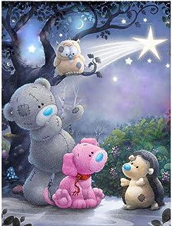 WANGJRU 5D DIY Diamond Painting Cartoon Pictures Embroidery Full Square Cross Stitch Rhinestone Mosaic Home Decor Baby Roo...