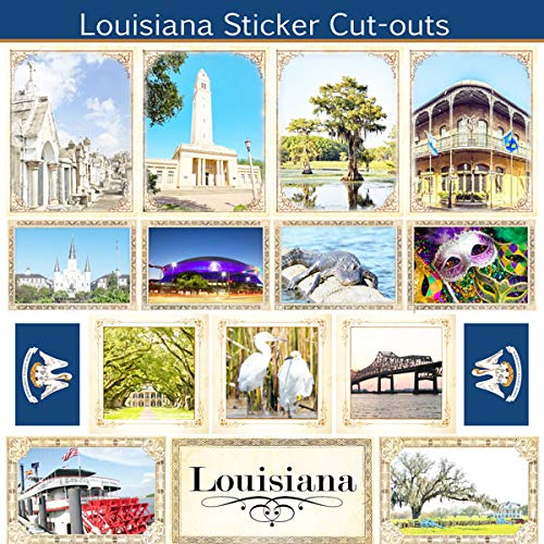 Louisiana Sightseeing Picture Sticker Cut Outs (60524)