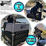 RuffLyfe CrateMate Bike Dog Basket Crate Retrofit Carrier Holds Pets Upto 45lbs Pkg Includes: a Custom Soft Waterproof 4-Sided Seat Cushion, a 4-Point Safety Harness & Crate Fasteners (Light Grey)